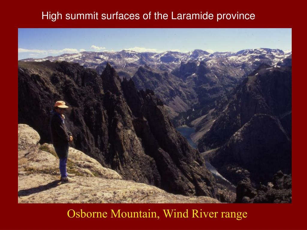 High summit surfaces of the Laramide province