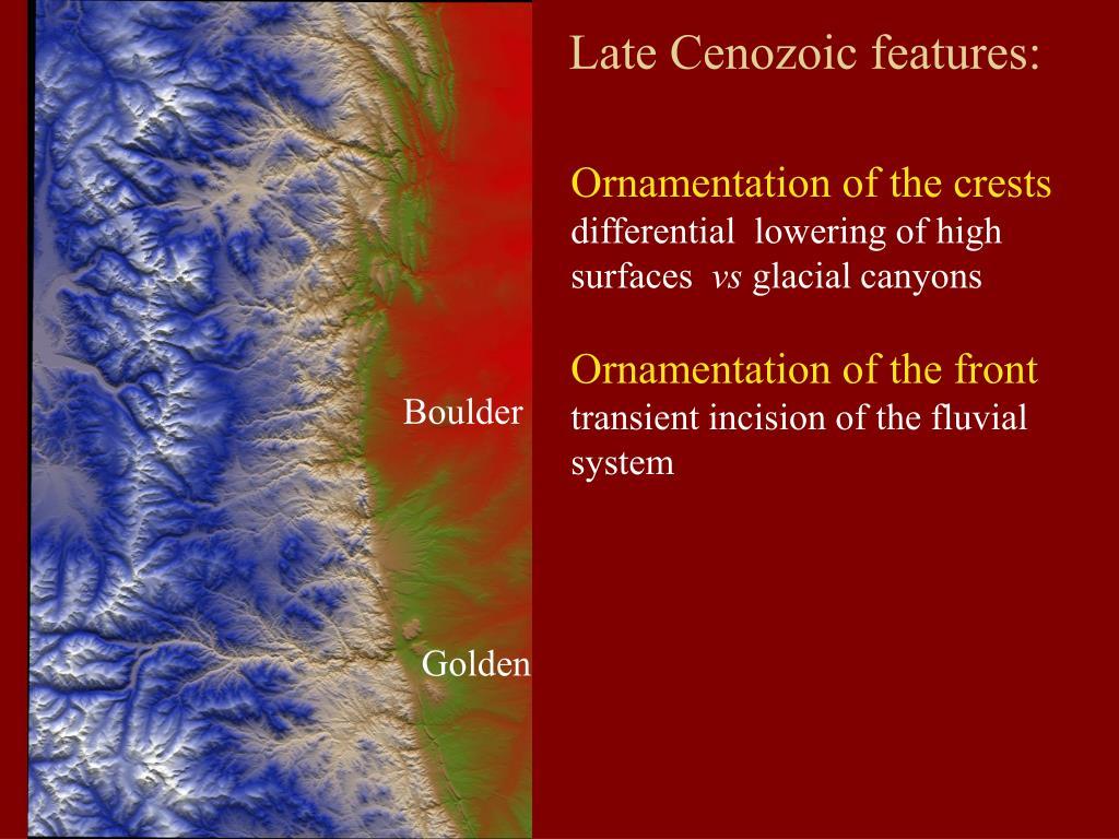Late Cenozoic features: