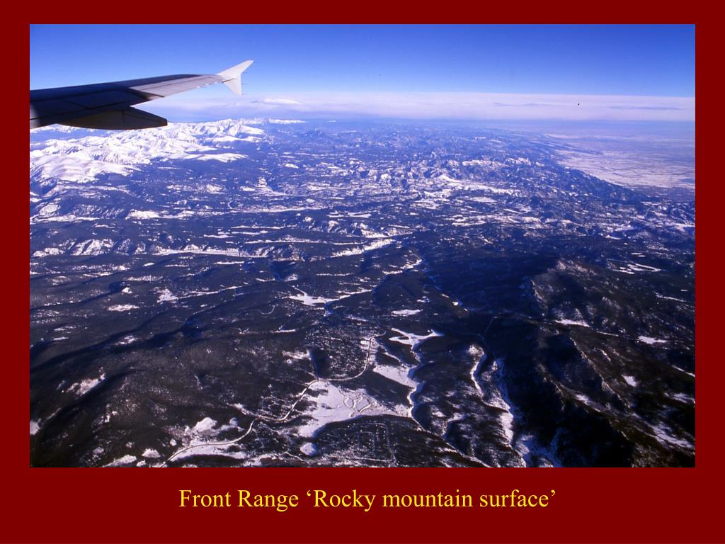 Front Range 'Rocky mountain surface'