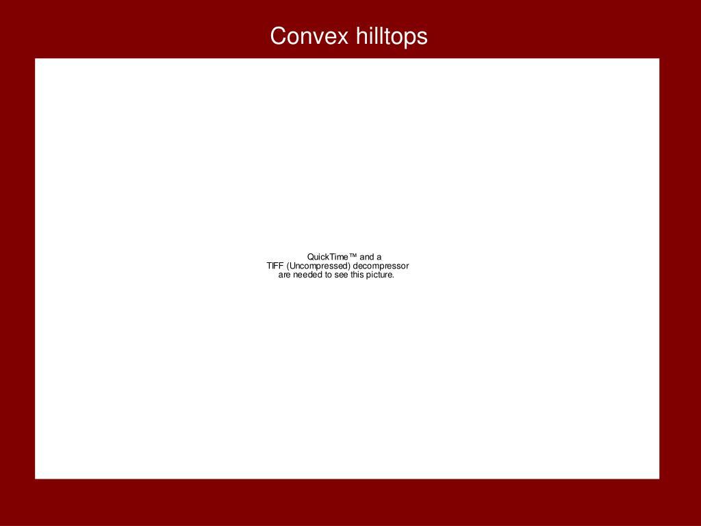Convex hilltops