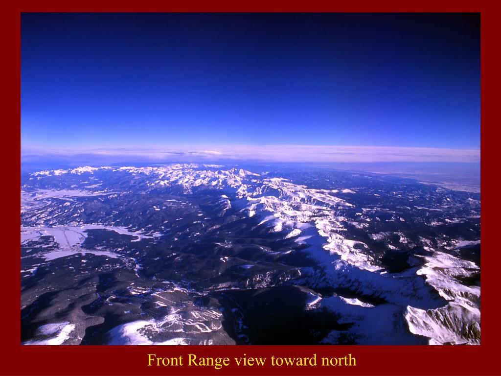 Front Range view toward north