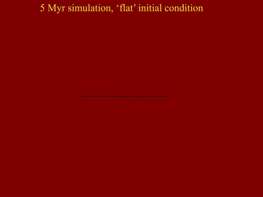 5 Myr simulation, 'flat' initial condition