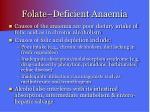 folate deficient anaemia