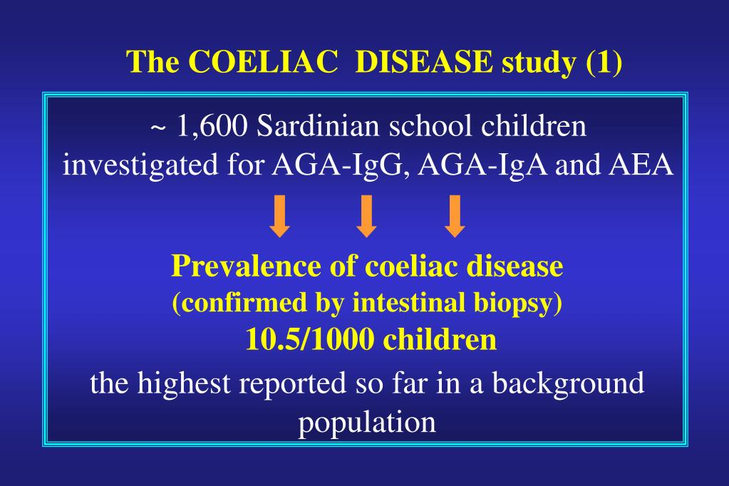 The COELIAC  DISEASE study (1)