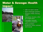 water sewage health impact