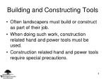 building and constructing tools