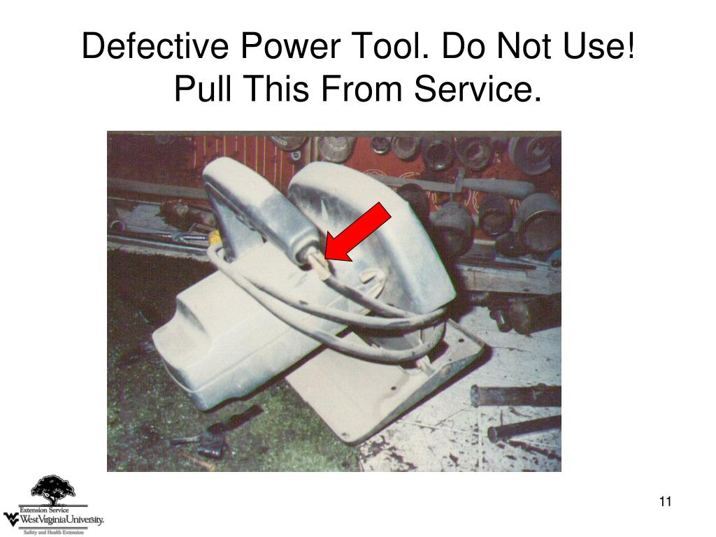 Defective Power Tool. Do Not Use!