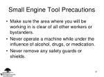 small engine tool precautions31