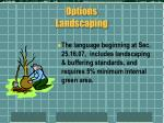 options landscaping