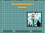 recommendations context