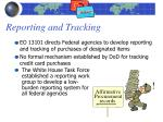 reporting and tracking
