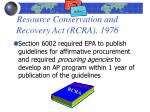 resource conservation and recovery act rcra 1976
