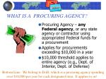 what is a procuring agency