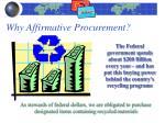 why affirmative procurement