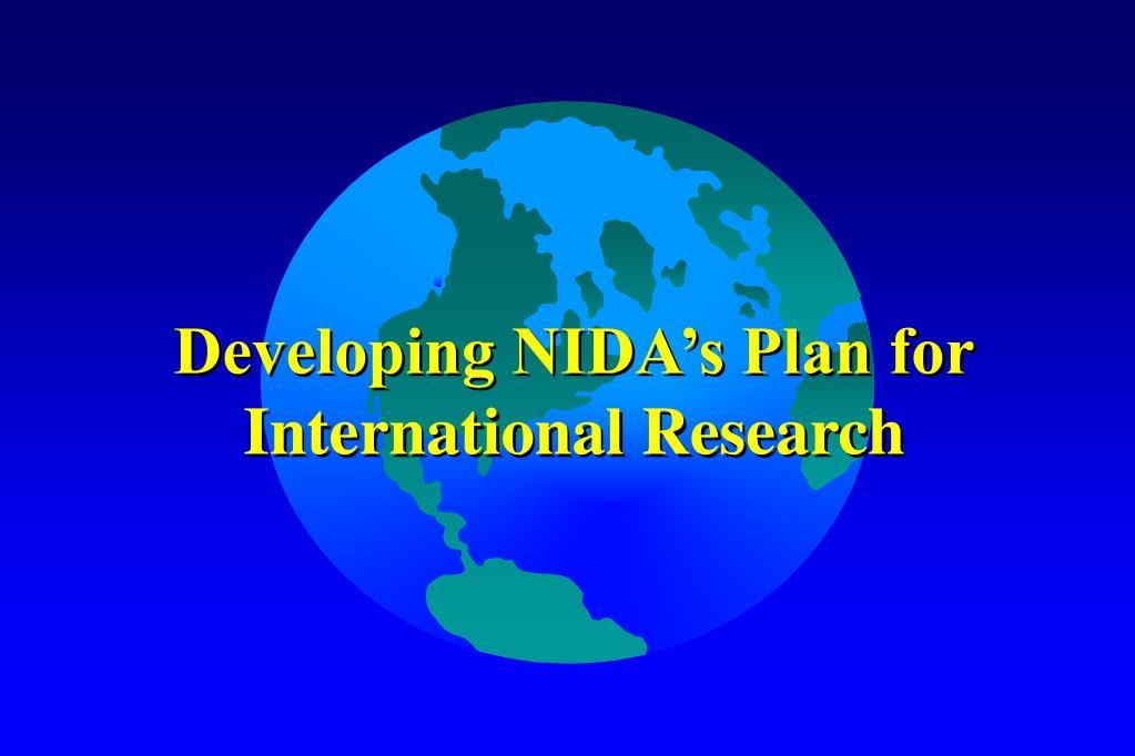 Developing NIDA's Plan for