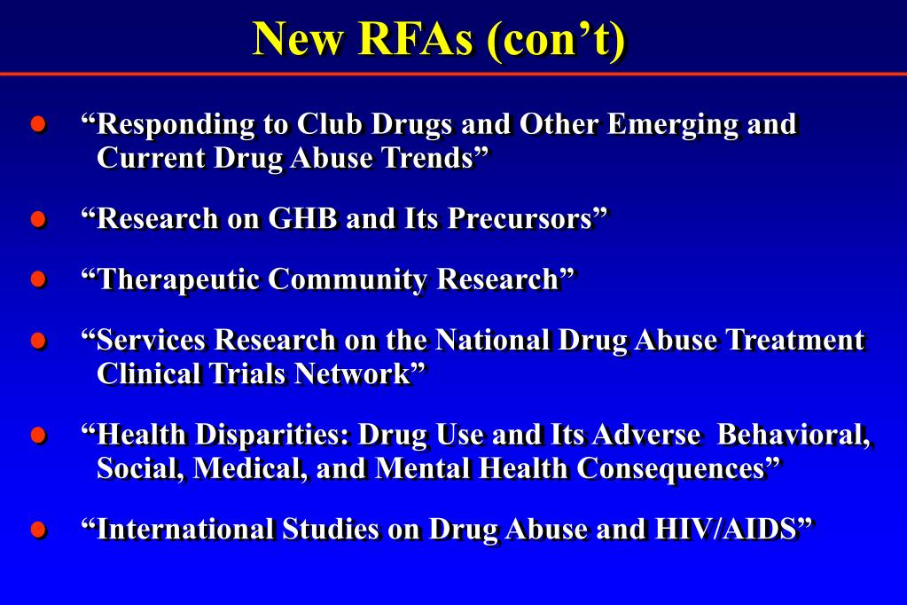 New RFAs (con't)