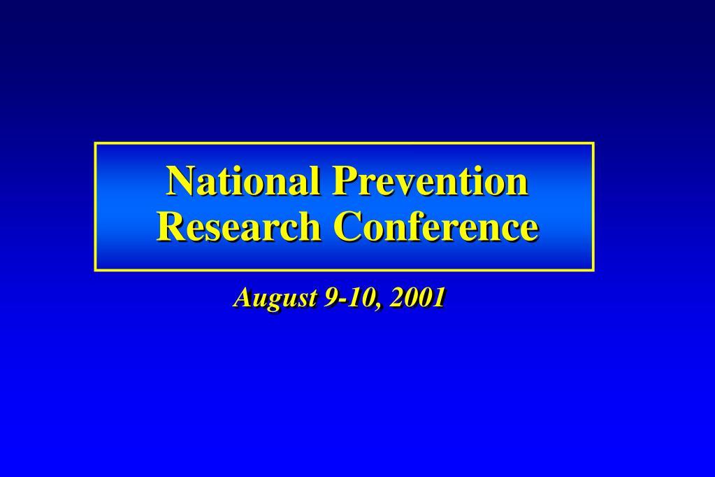 National Prevention