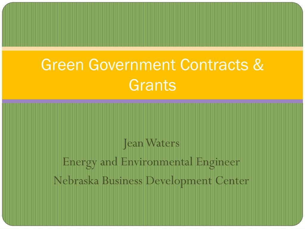 green government contracts grants l.