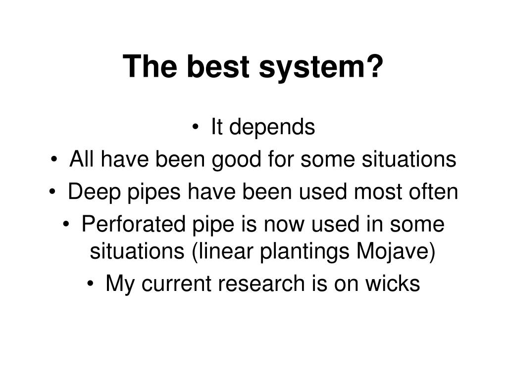 The best system?