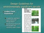 design guidelines for environmentally significant parcels