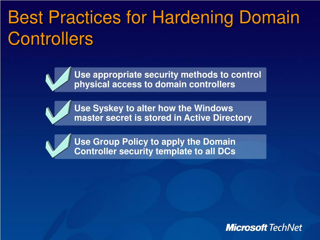 PPT - Implementing Server Security on Windows 2000 and Windows
