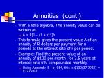 annuities cont