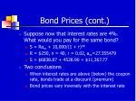 bond prices cont