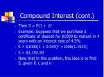 compound interest cont