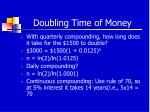 doubling time of money10
