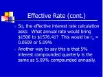 effective rate cont