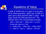 equations of value23
