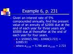 example 6 p 231