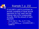 example 7 p 232