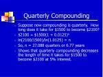quarterly compounding