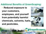 additional benefits of greenscaping