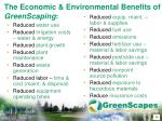 the economic environmental benefits of greenscaping