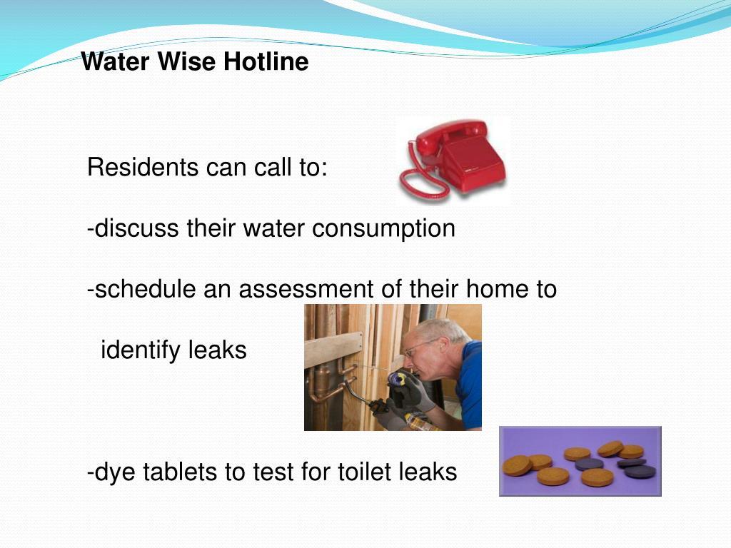 Water Wise Hotline
