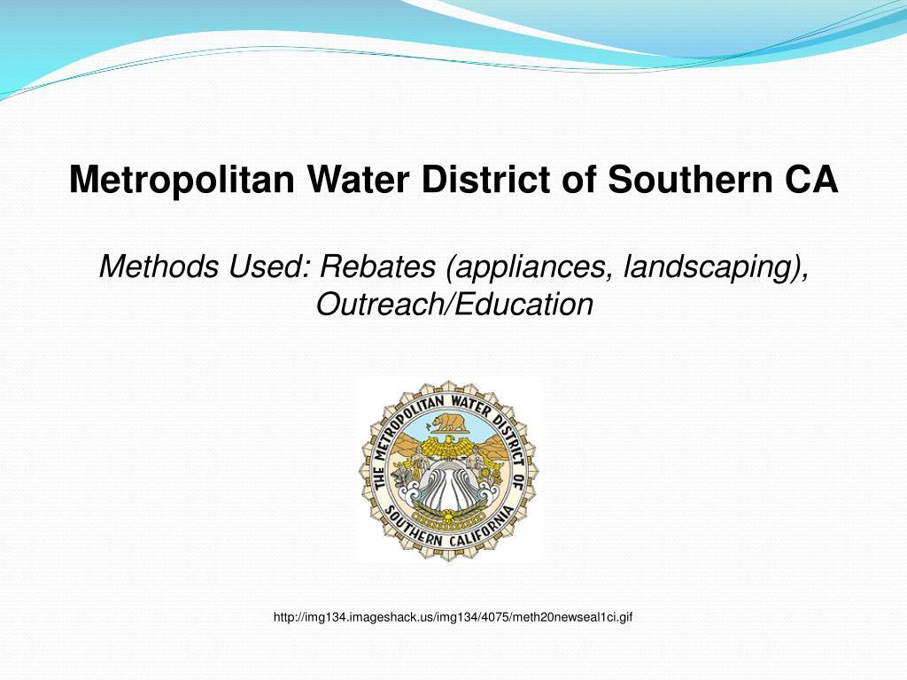 Metropolitan Water District of Southern CA