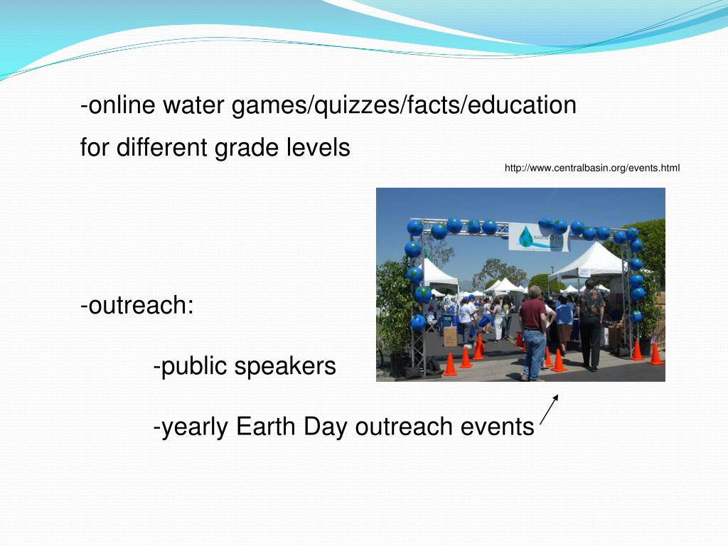 -online water games/quizzes/facts/education