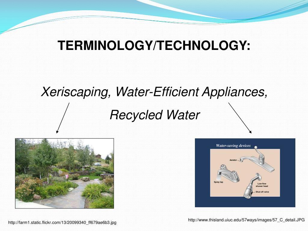 TERMINOLOGY/TECHNOLOGY: