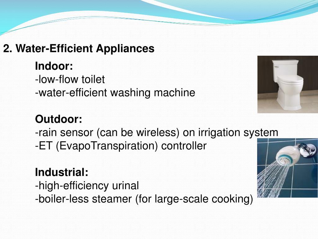 2. Water-Efficient Appliances