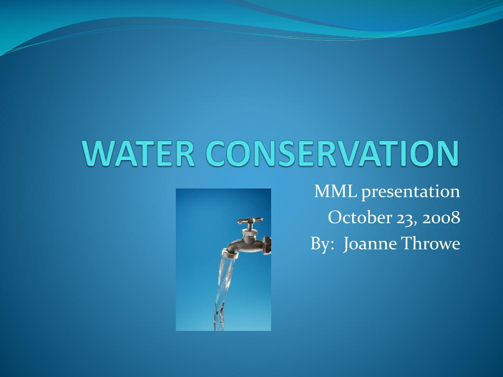 water conservation l.
