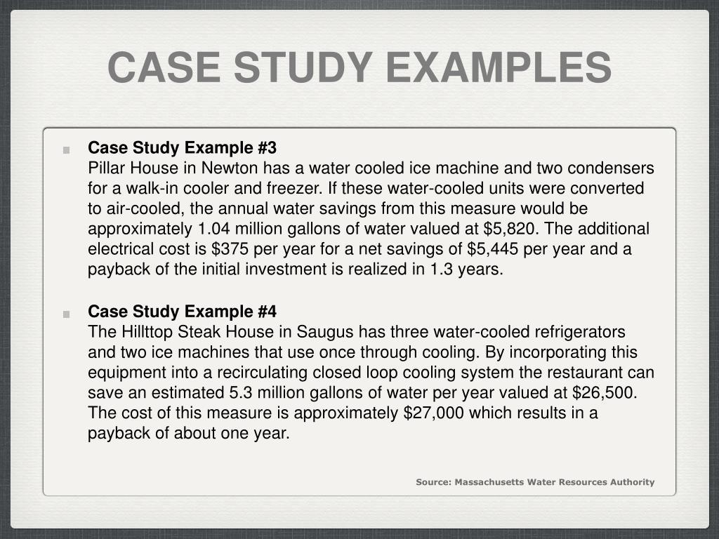 CASE STUDY EXAMPLES