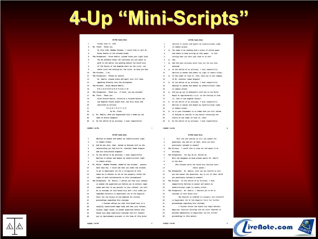 """4-Up """"Mini-Scripts"""""""