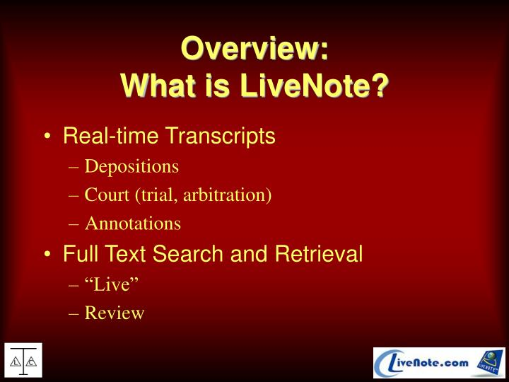 Overview what is livenote
