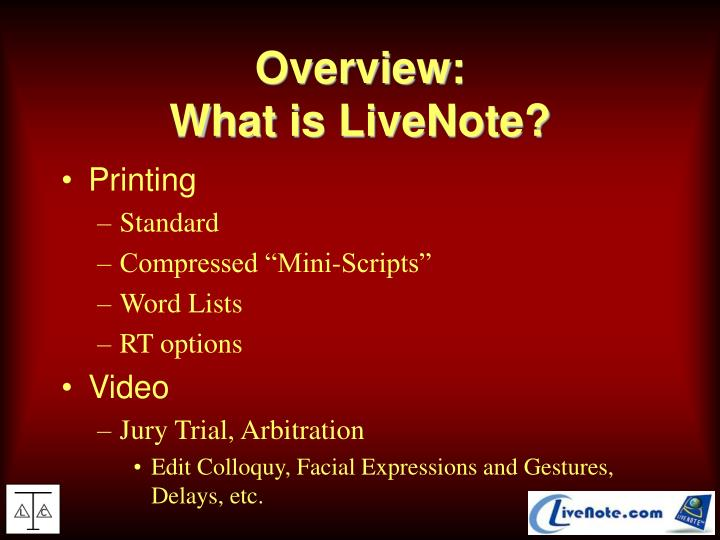 Overview what is livenote3