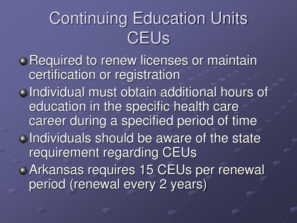 Continuing Education Units