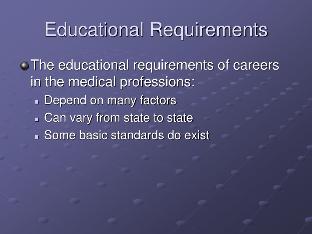 Educational Requirements