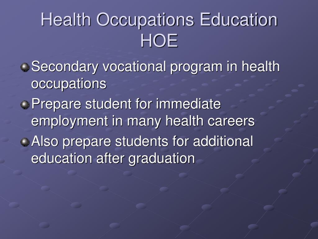 Health Occupations Education