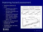 improving hazard assessment